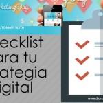Checklist para tu estrategia digital, gracias al #SMMDay